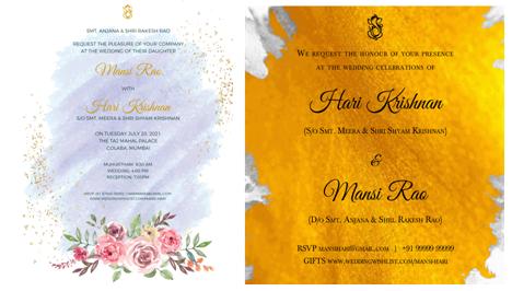 Edgy wedding invitations